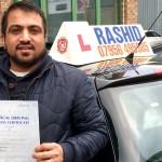 Jawad Passed with Rashid Driving School